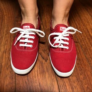 Keds Champion Originals Red Canvas Sneakers